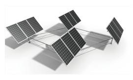 4.PVパネルの取り付け.3~1.5倍の発電量が得られます。